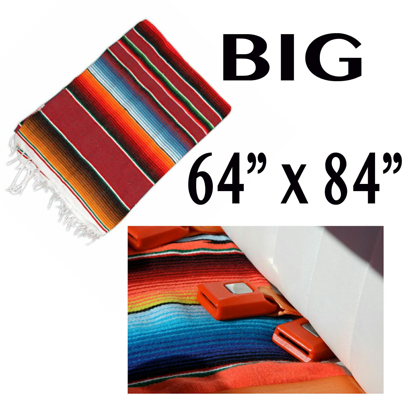 mexican blanket hot rat rod interior seat cover bench upholstery ebay. Black Bedroom Furniture Sets. Home Design Ideas