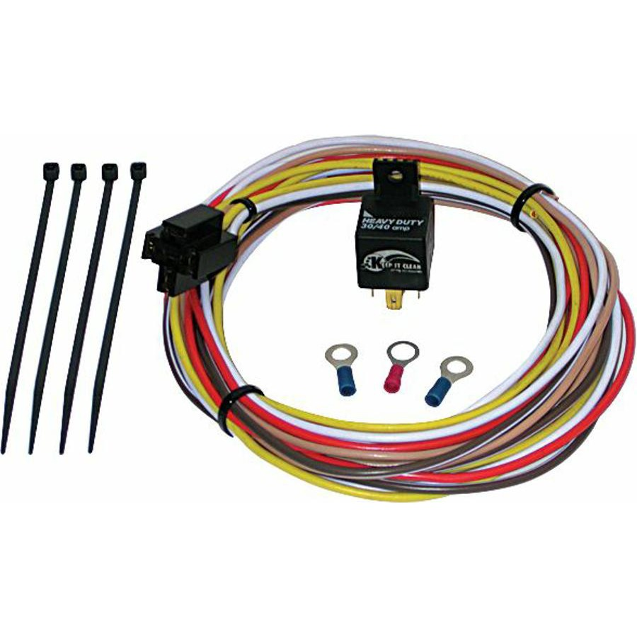 Electric fan relay kit with plug n play harness ebay