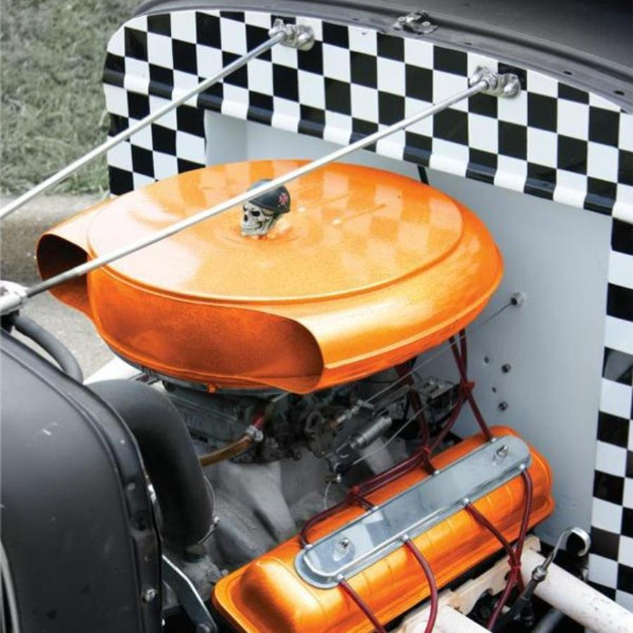 Built Rat Rod Air Cleaner : Cadillac olds air cleaner batwing filter hot street rat