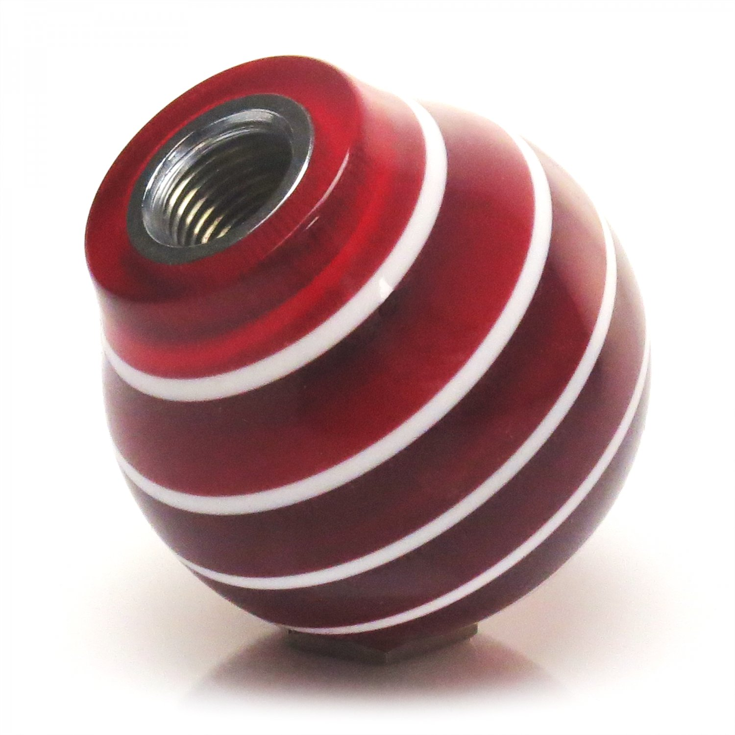4x4 Shift Knobs : Red shift pattern n stripe knob with insert