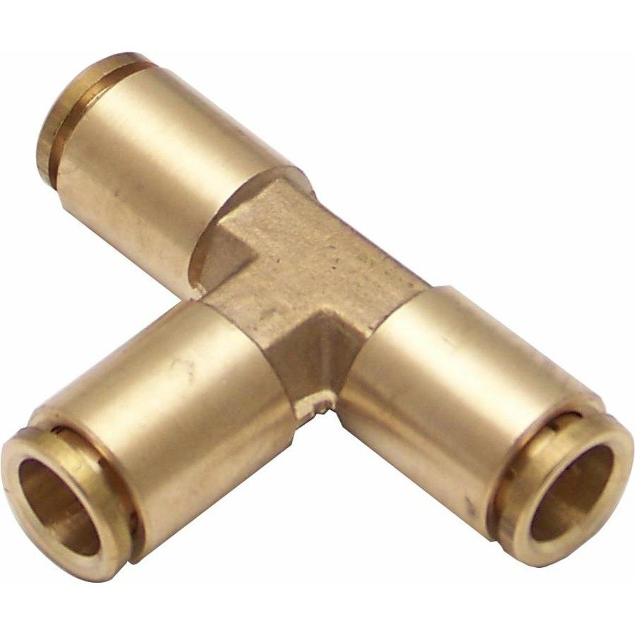 Union tee air fitting push connect way adapter oil