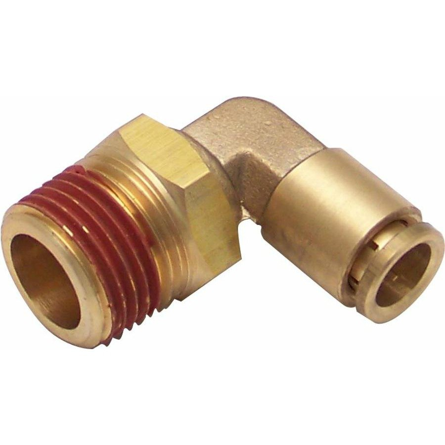 Npt male to push tube elbow air fitting pipe ride