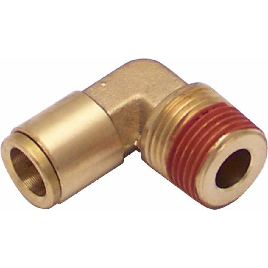Npt male to push tube elbow air fitting thread kit