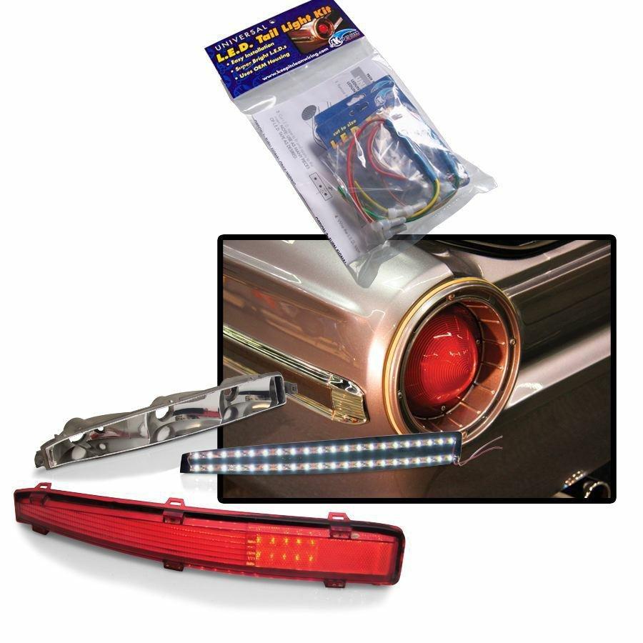 universal led tail light kit 4 lights white jdm tpi road king accessories ebay. Black Bedroom Furniture Sets. Home Design Ideas