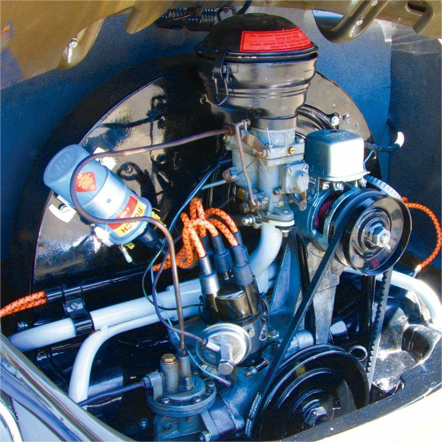 Classic Vw Beetle Engine Upgrades: Vintage VW Bug, Ghia, Bus, Type 3 7mm Yellow Cloth Wrapped