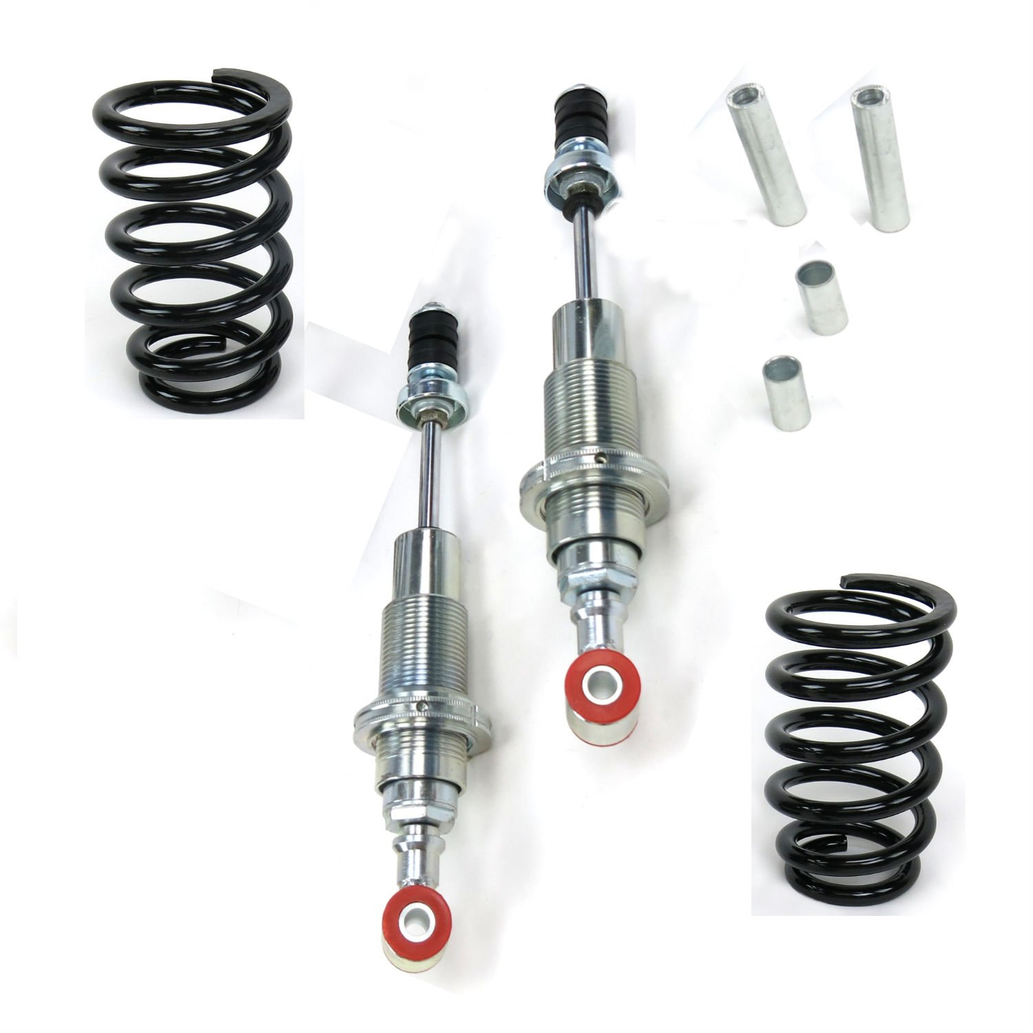 Pair mustang ii ifs coil over bolt in conversion shock for Suspension rond