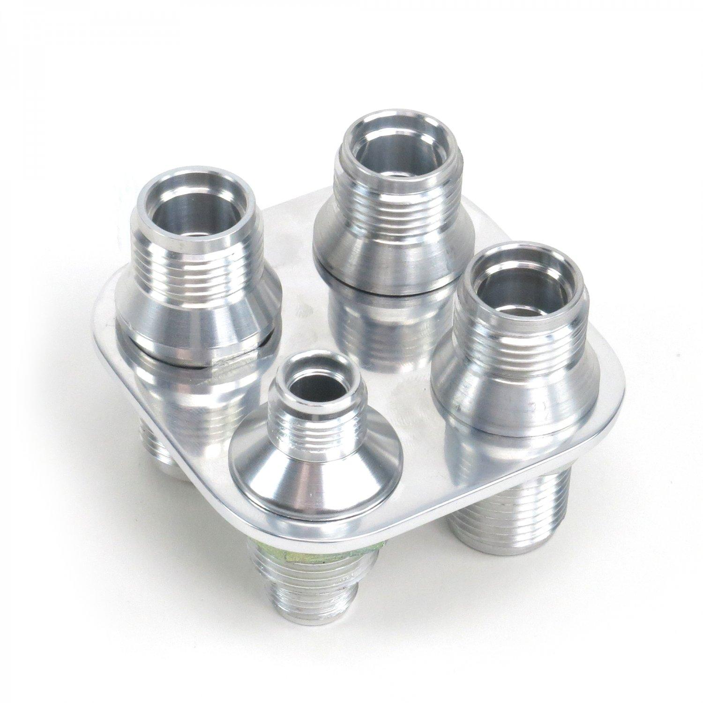 Aluminum port ac air conditioning heater hose firewall