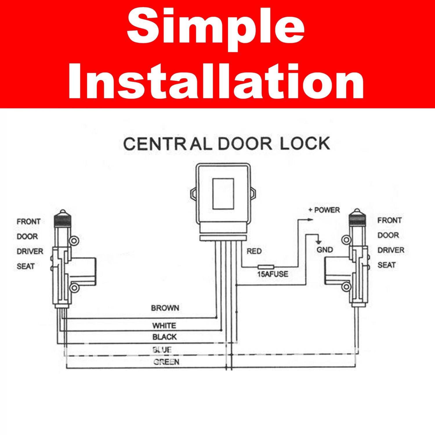 Power door lock kit fpr gm two door plunger style ebay for What is fpr rating