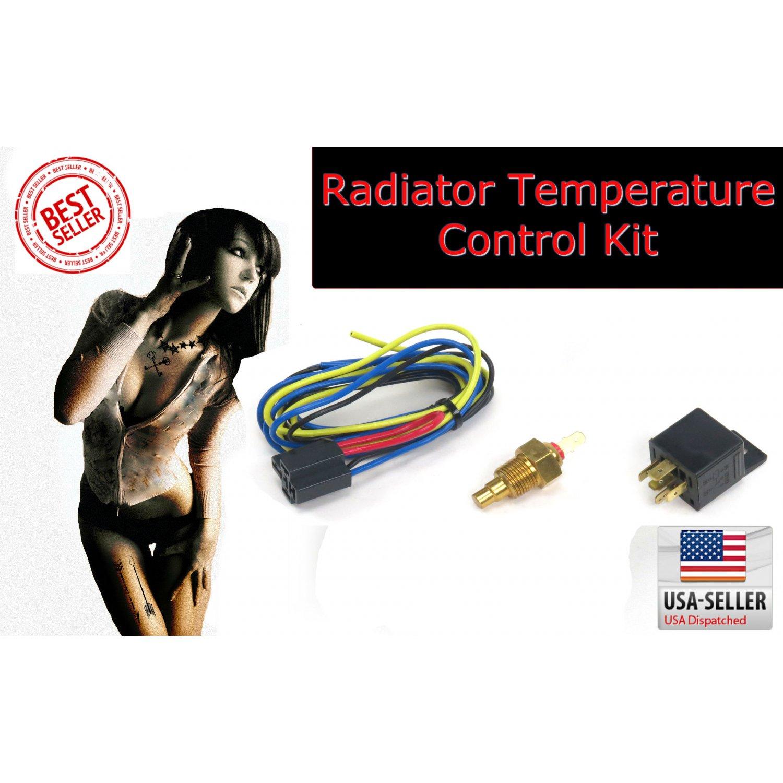 Radiator Fan Temp Control w Relay Cooling Switch NEW control adjust  #B11A1F