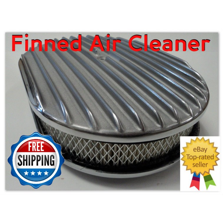 Nostalgia Air Cleaners : Quot oval finned polished aluminum classic nostalgia air