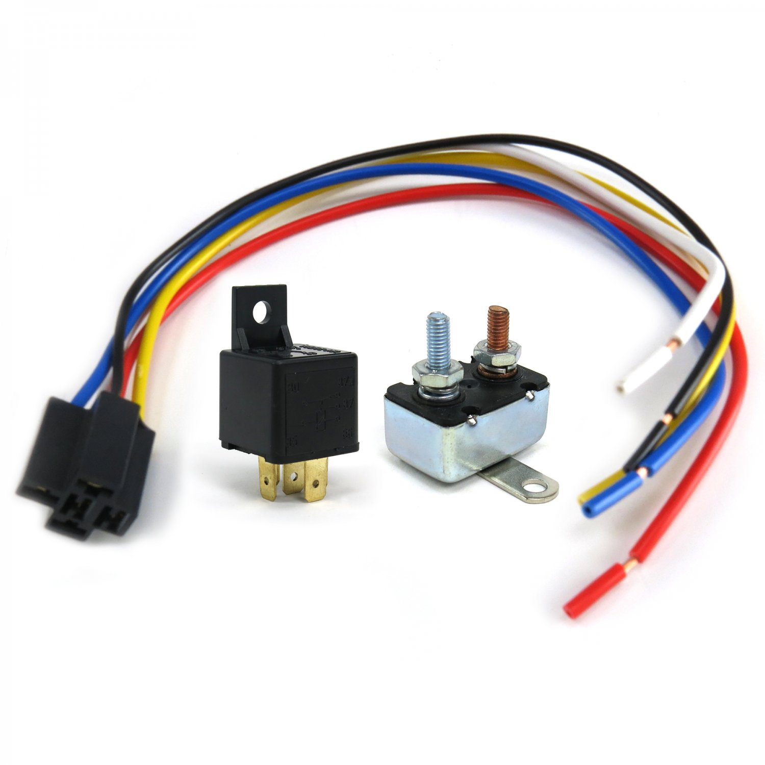 Electric cooling fan wiring harness relay street rod sbc