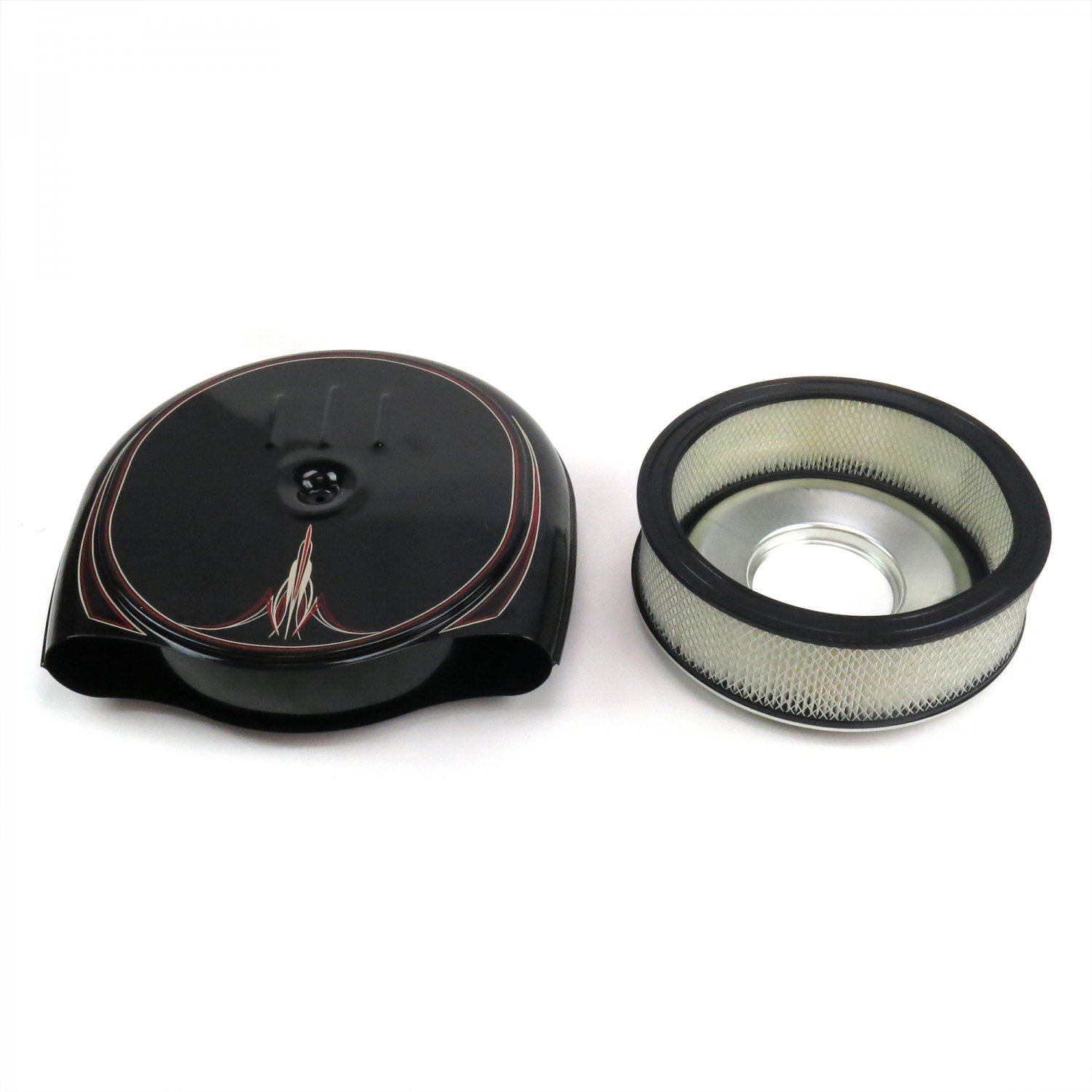 Reproduction Caddy Style Air Cleaner : Pinstriped retro cadillac oldsmobile style air cleaner kit
