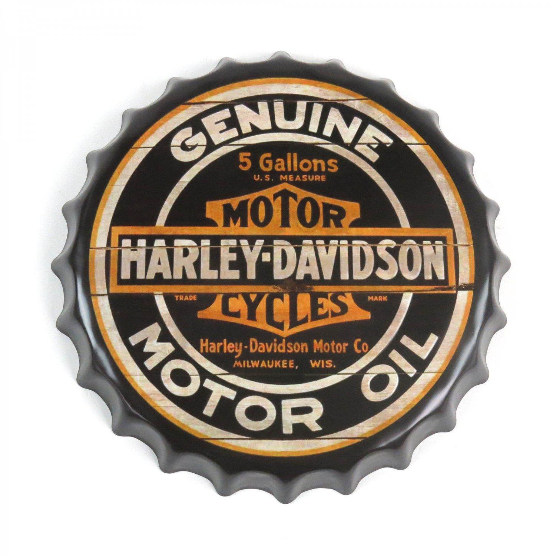 Harley Davidson Motorcycles Motor Oil Can Metal Bike