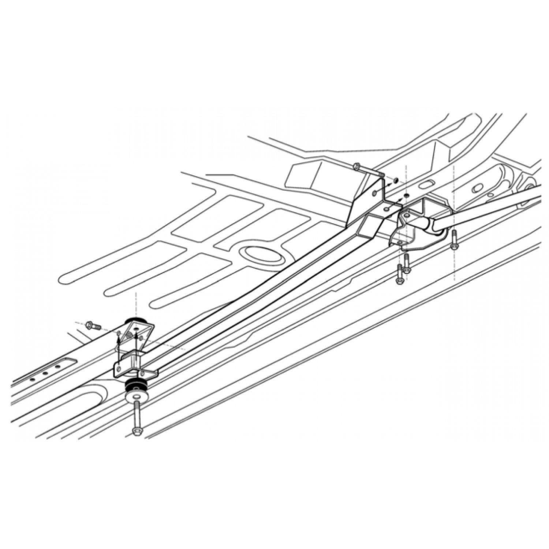 f body camaro firebird bolt on subframe connectors oem ss