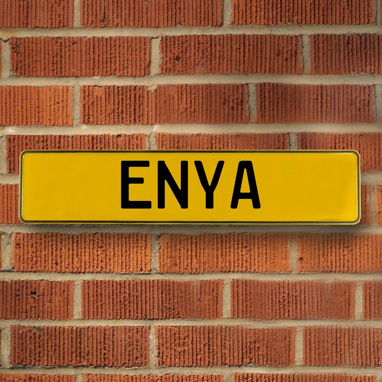 ENYA Yellow Stamped Street Sign Mancave Wall Art | eBay