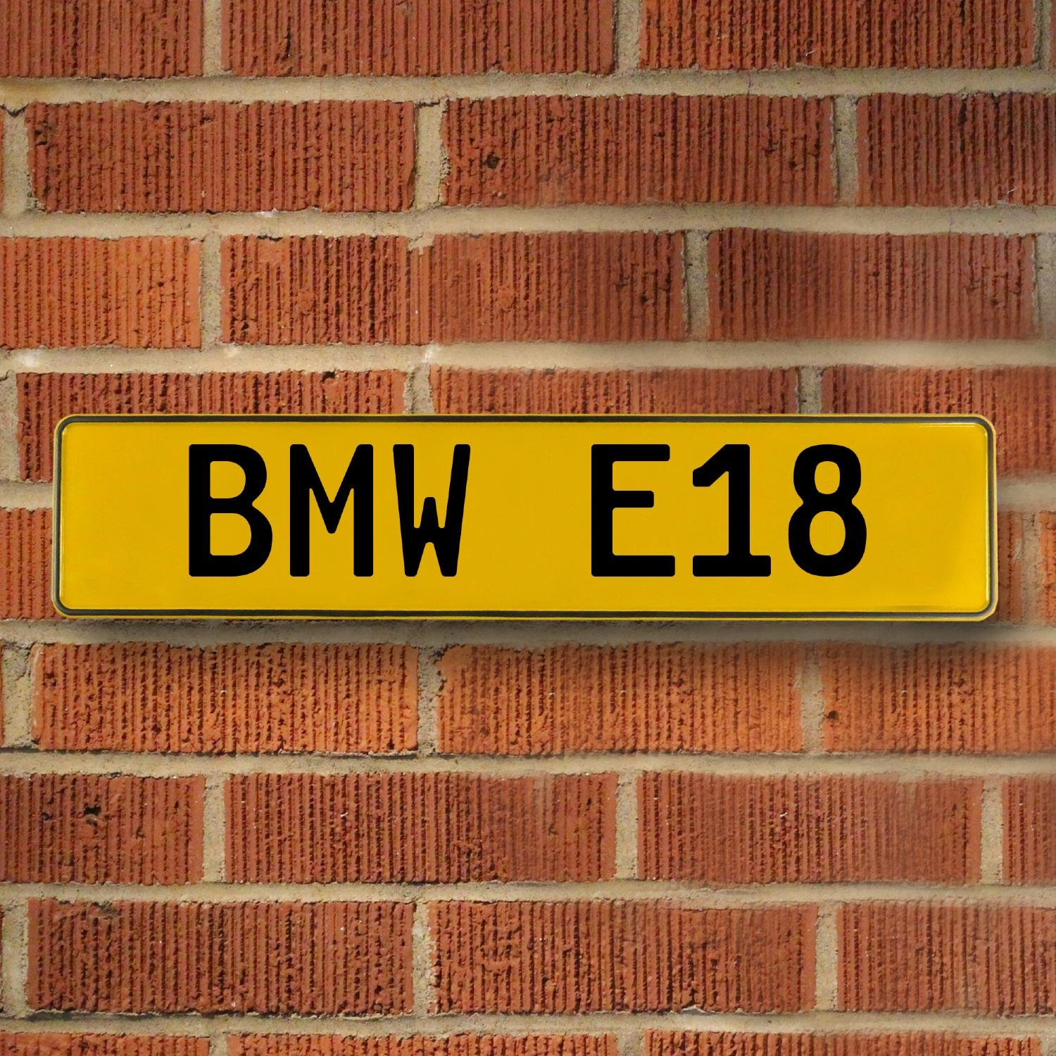 BMW E18 Yellow Stamped Street Sign Mancave Wall Art | eBay