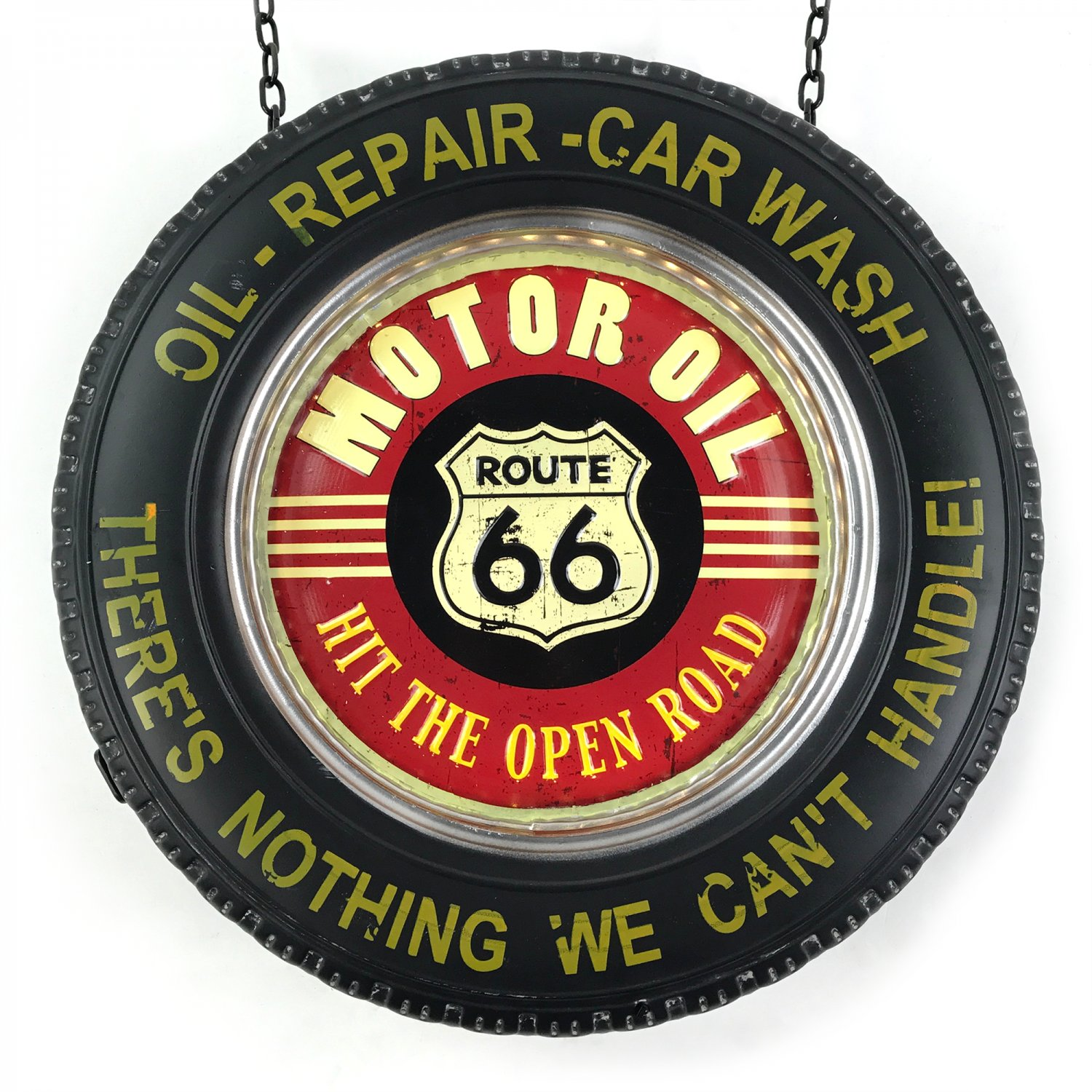 Man Cave Signs Canadian Tire : Route double sided light up hanging tire metal sign man