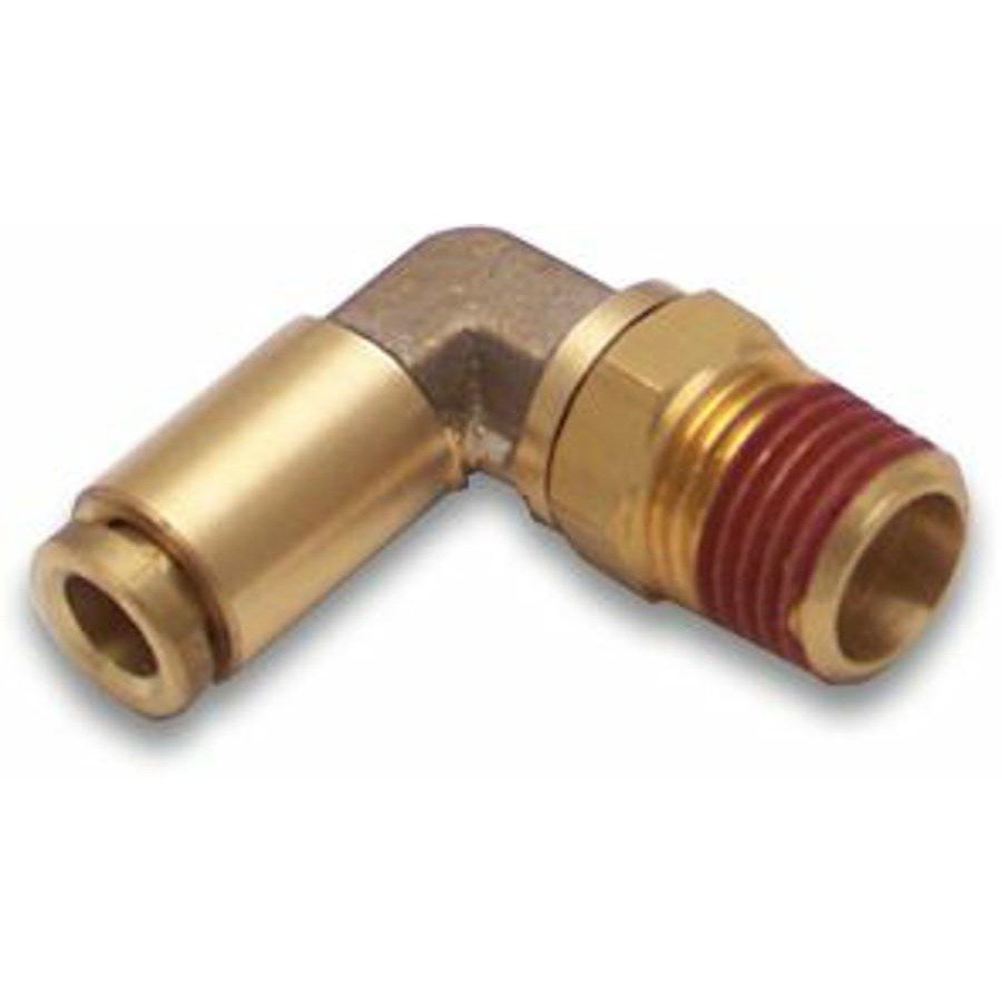 Npt male to push tube elbow air fitting line