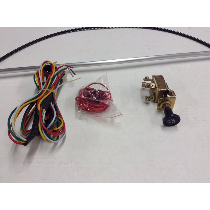 739 1947 59 chevy pickup truck wiper kit w wiring harness cable drive Chevy Truck Wiring Harness at gsmportal.co