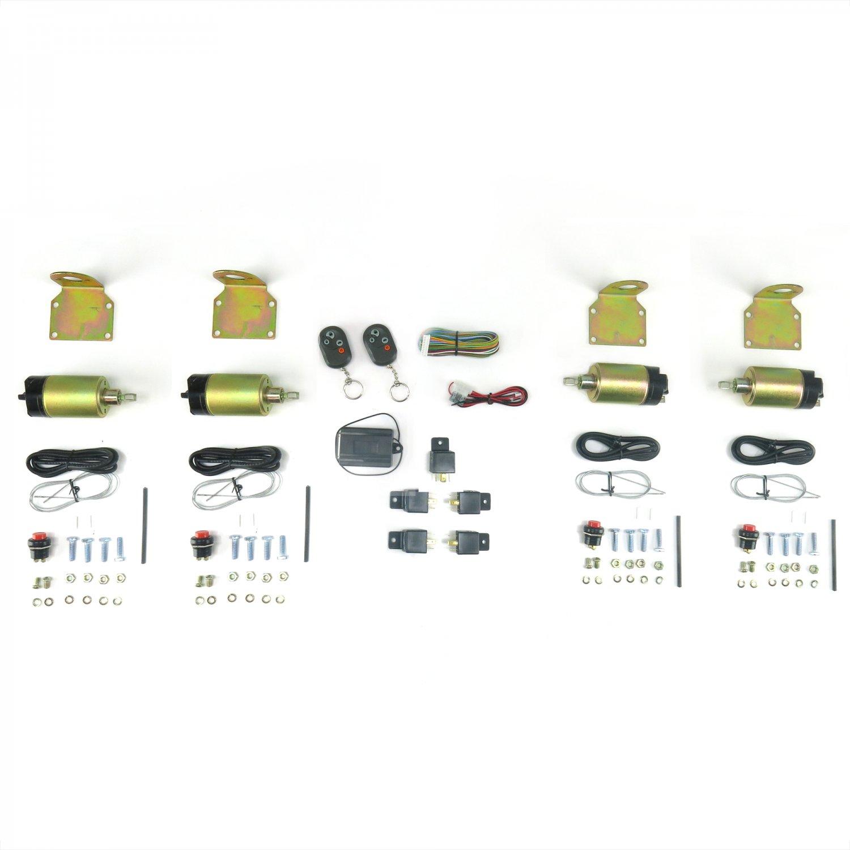 60 lb Solenoids Newly Improved Design 2 Door Popper Kit for Cars /& Trucks