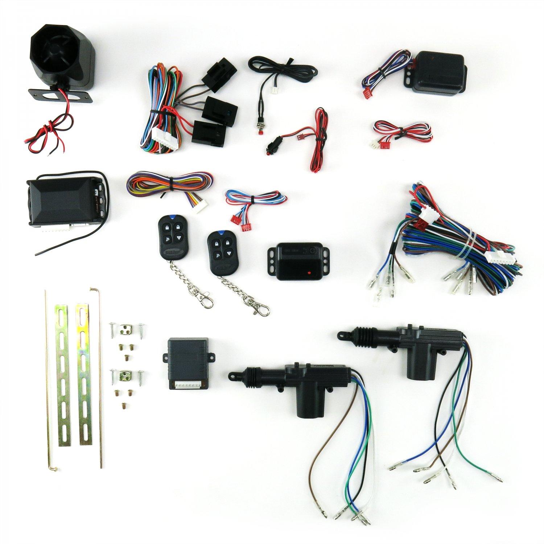 Chevy Gm Bpoc 2 Door Power Lock Keyless Entry Retrofit Kit W Actuator Wiring Alarm Feature 5 Wire Actuators
