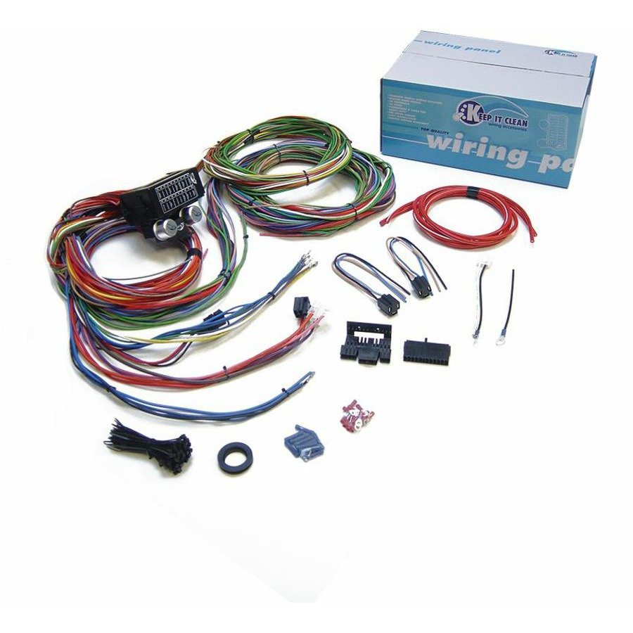 Street Rod Wiring Harness Hot Kits Diagrams 12v 24 Circuit 15 Fuse Color Painless
