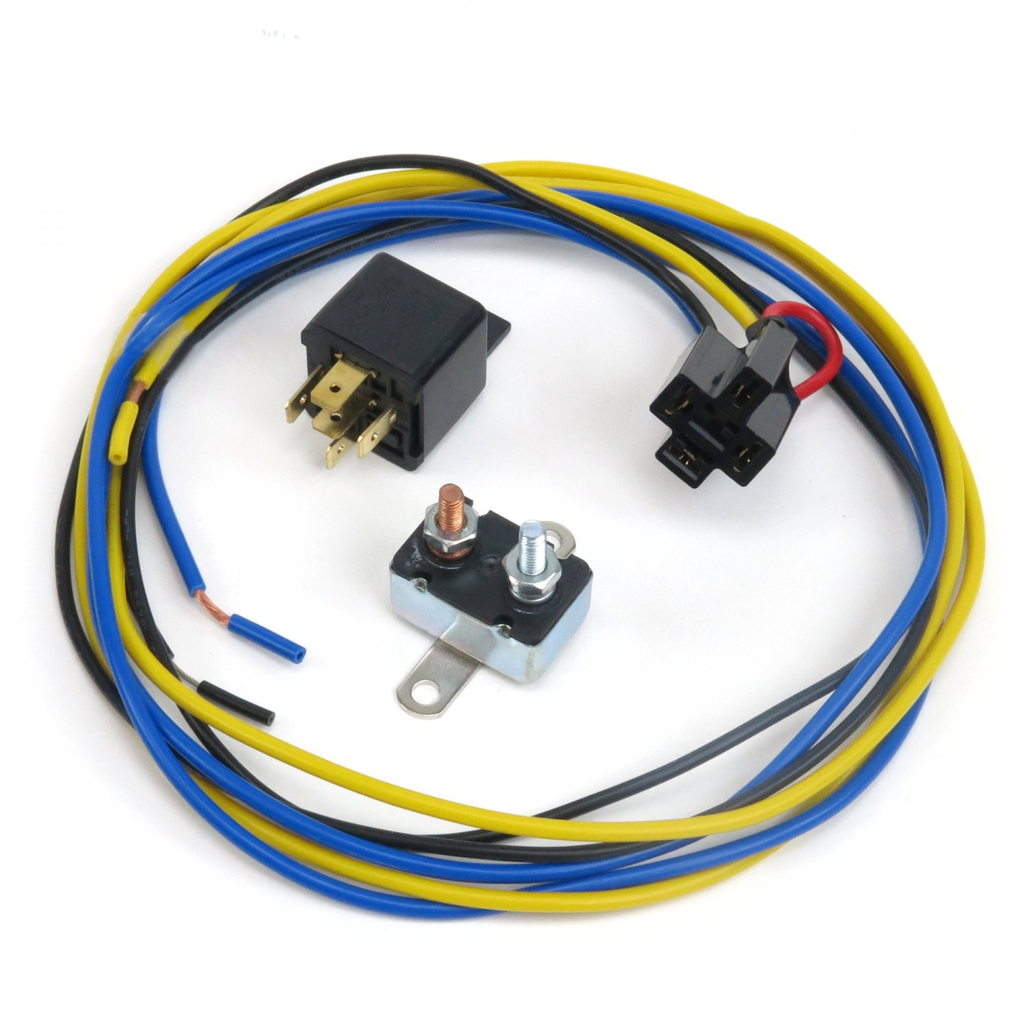 Universal Horn Relay W Plug In Harness Circuit Breaker 12v Hot Rod Wiring Connector Plugs Accessories