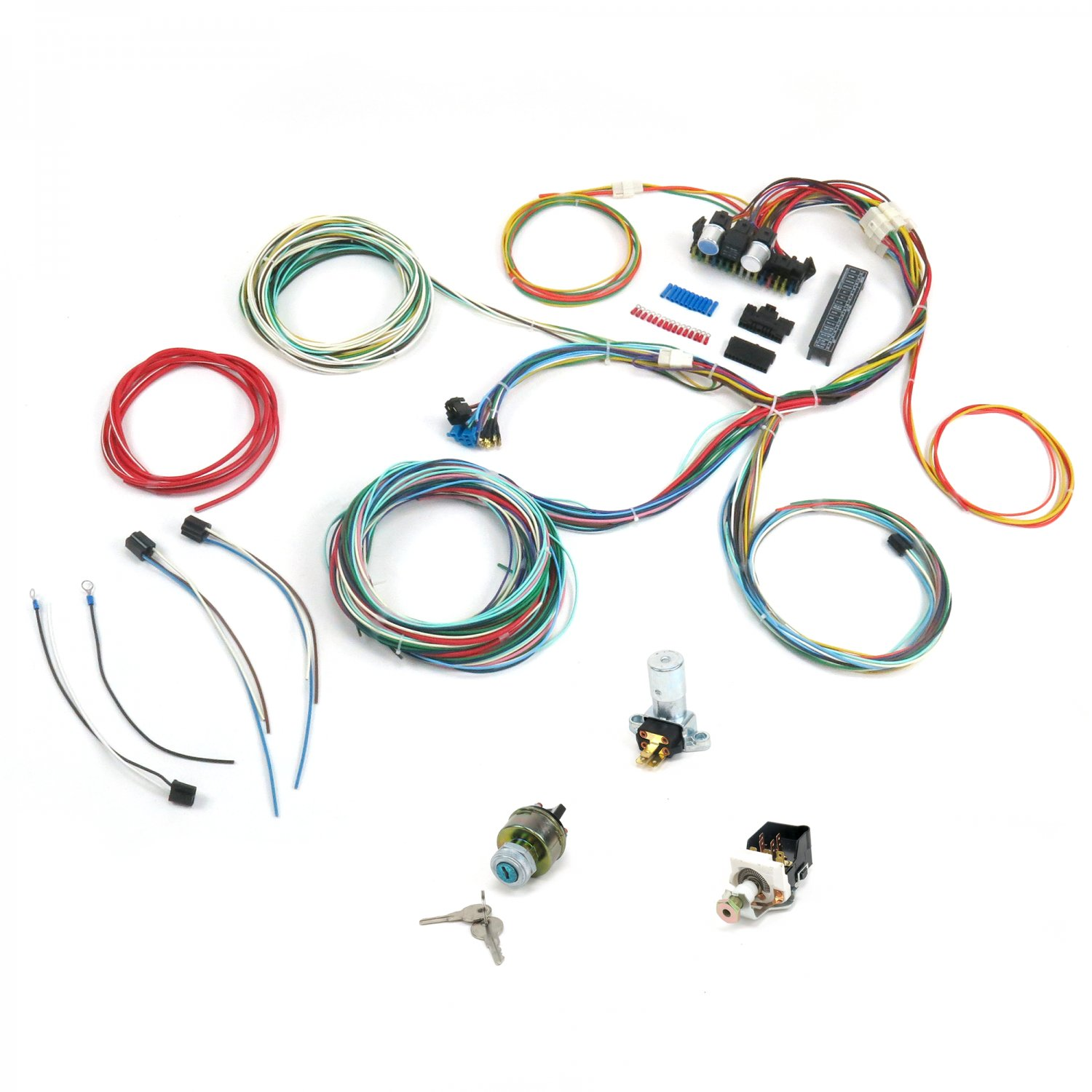1500 1964 1970 ford mustang comet falcon wire harness upgrade kit 1965 mustang painless wiring harness at crackthecode.co