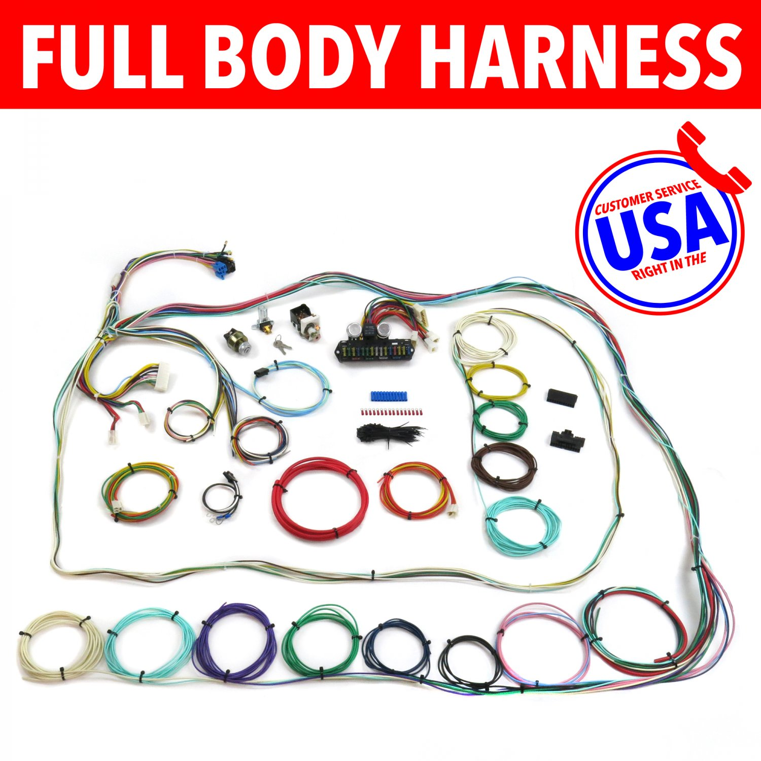 67 72 Chevrolet C10 C15 Rear Coil Truck Wire Harness Upgrade Kit 1963 Buick Wiring Fits Painless Bar Product Description C