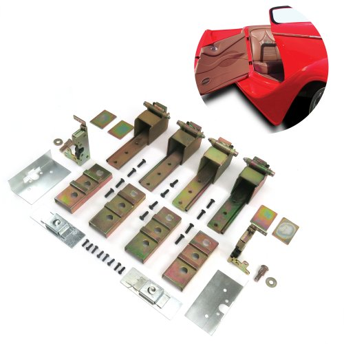 Large Door Latch Kit Complete 2 Door Adjustable Suicide Hidden Door Hinge Kit