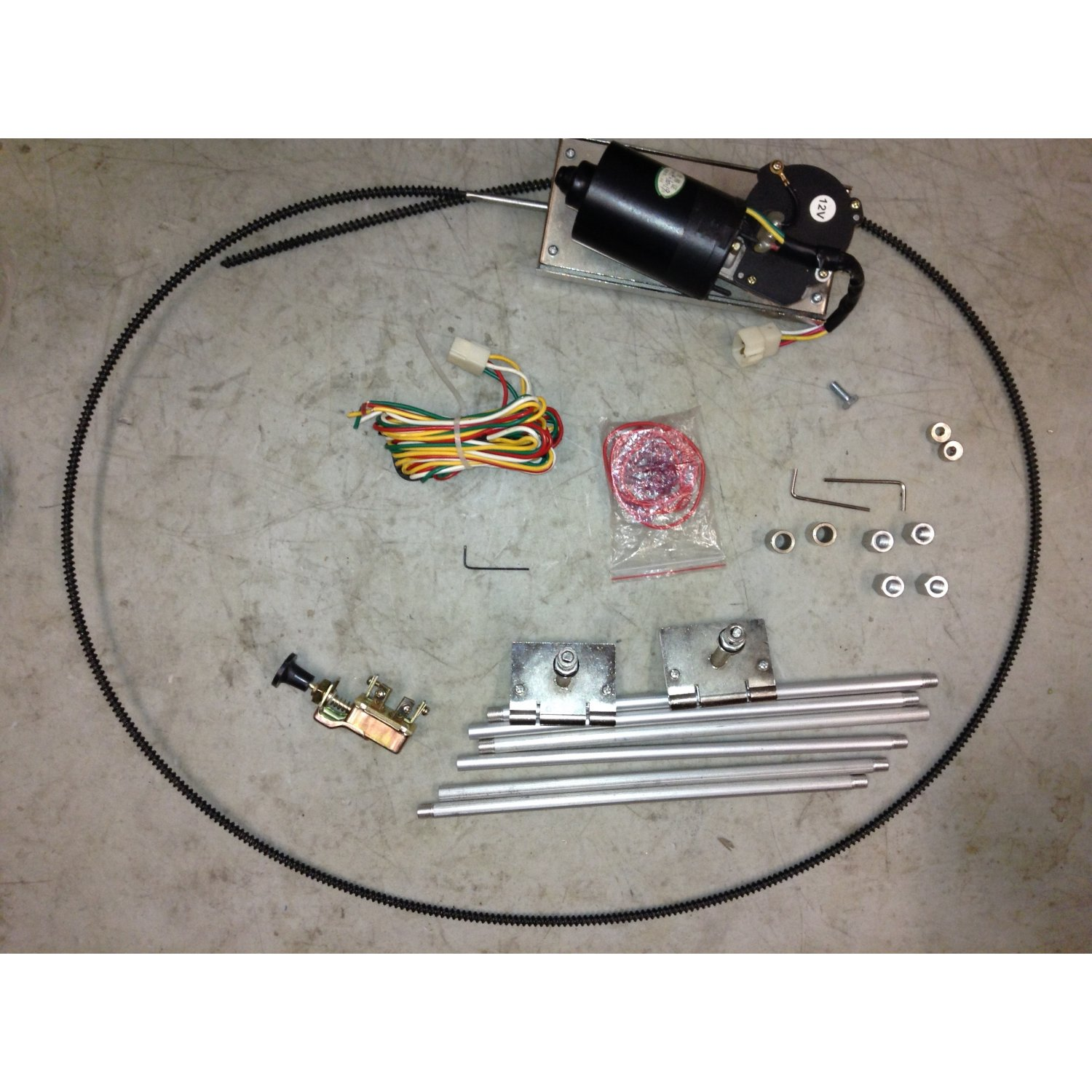 1928 1947 Early Ford Wiper Kit Wiring Harness Hot Rod Rat Windshield Tool Wire Image Is Loading