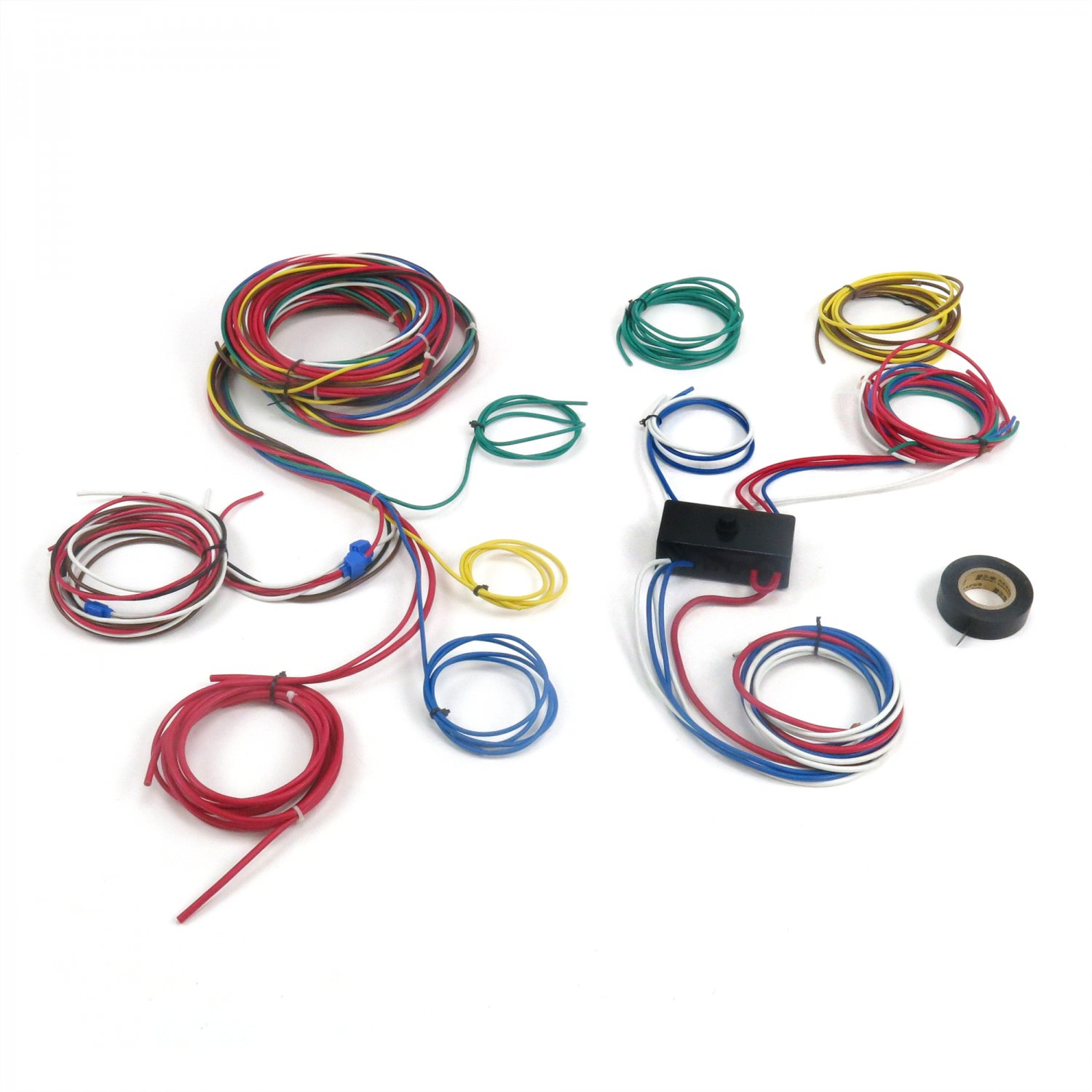 1500 dune buggy universal wiring harness w fuse box fits empi 9466 vw VW Wiring Harness Kits at aneh.co