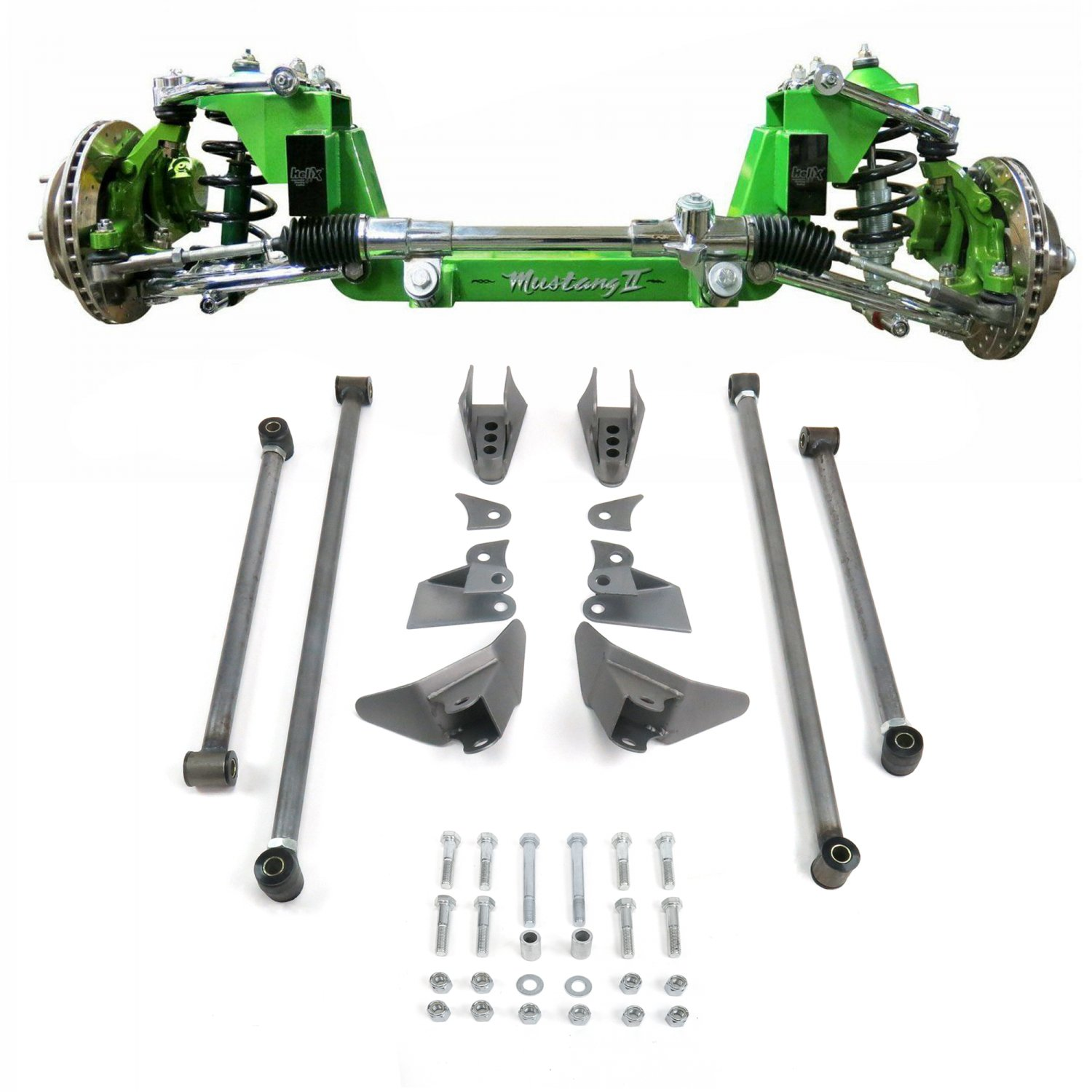 Mustang Ii 2 Ifs Front Rear Suspension 1 3 In Lowering Kit For 67 1970 Ford Truck Lowered 79 Bar Product Description C
