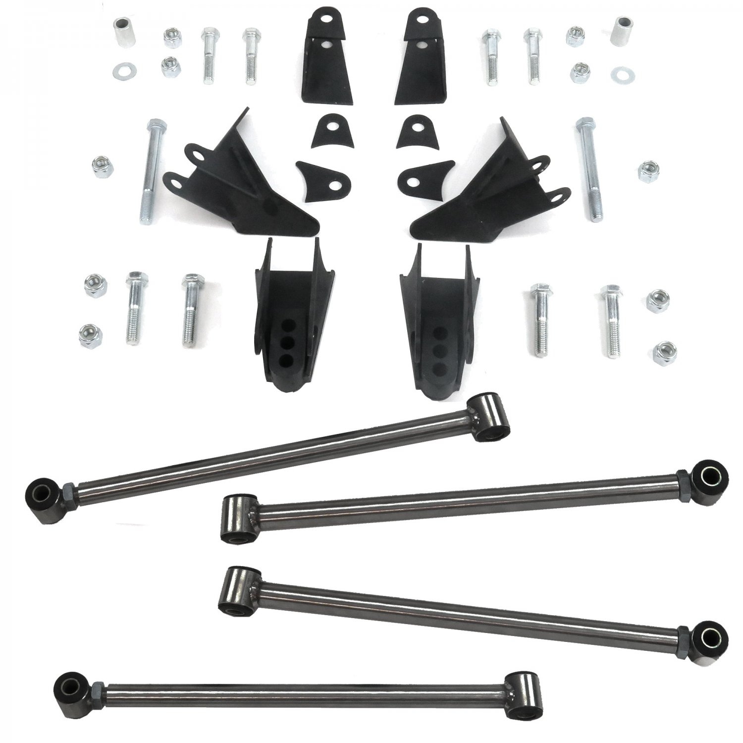 Triangulated Rear Suspension Four 4 Link Kit For 67 79 Ford Truck 1955 F100 Fits Coilovers