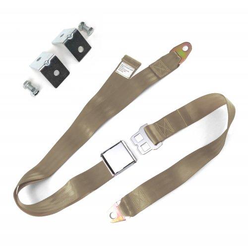 2pt Peach Airplane Buckle Lap Seat Belt w// Flat Plate Hardware SafTboy v8 rat