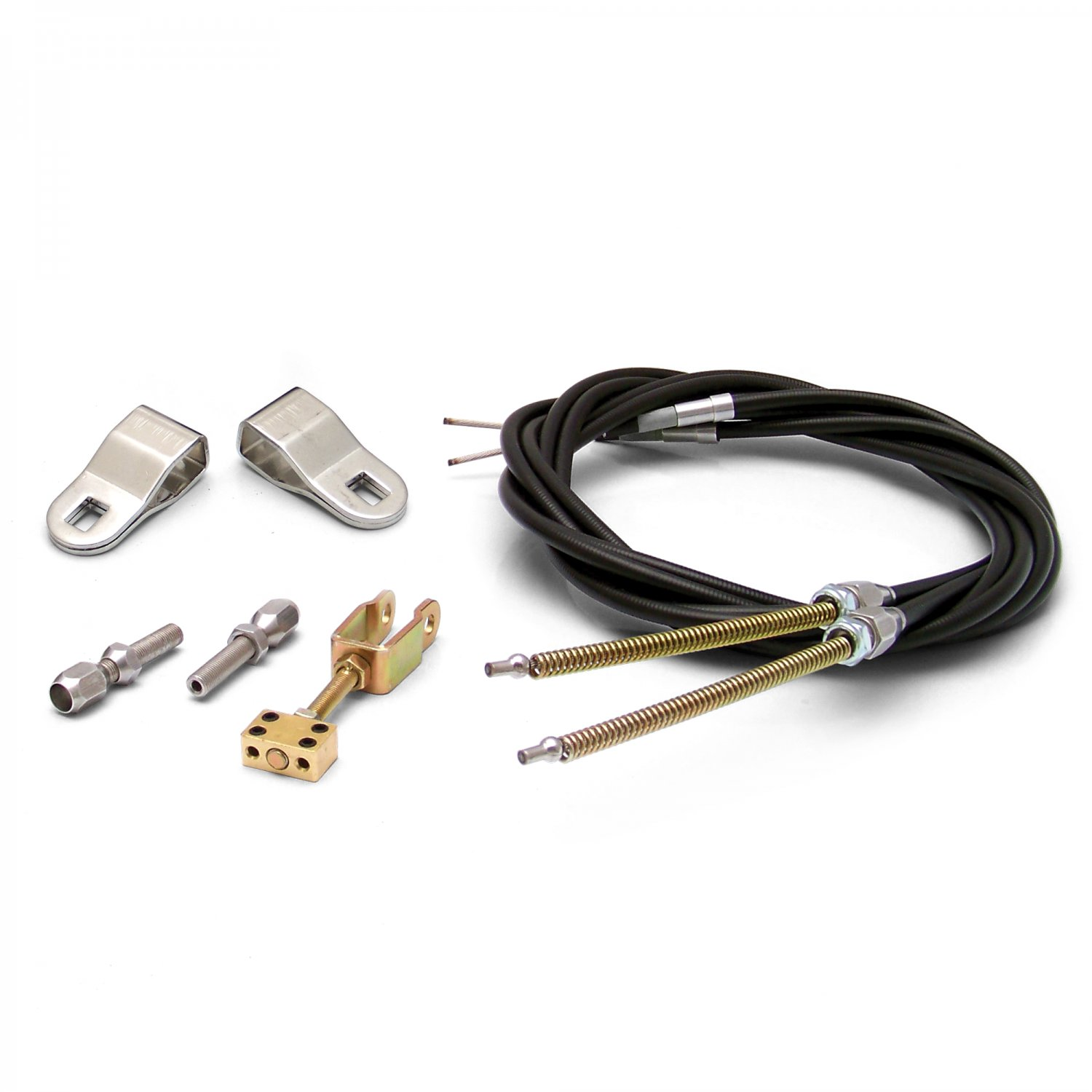 Stainless Steel Emergency e-Brake Cables with Clevis Kit for GM Disc or Drum co