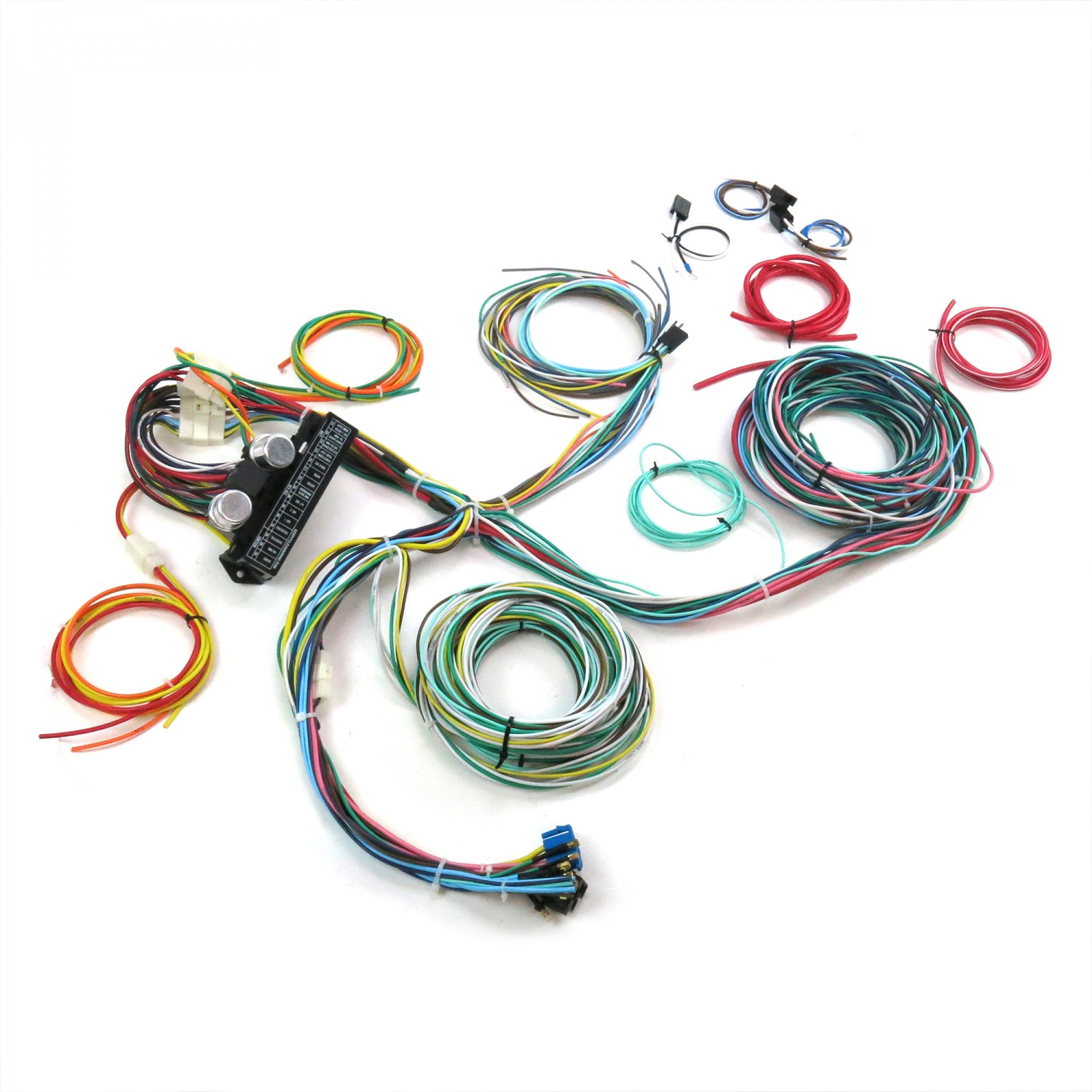 ultimate 15 fuse 12v conversion 39 wiring harness 40 1940. Black Bedroom Furniture Sets. Home Design Ideas