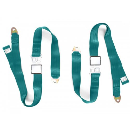 Adjustable Seat Belt Car Truck Lap Belt Universal 2 Point Safety Travel AQUA