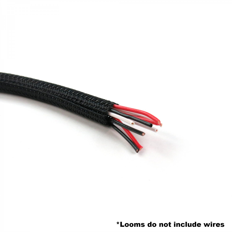 "1/2"" Black Ultra Split Wrap Wire Loom - 1 Foot Keep It Clean  KICWFBBK0500L001"