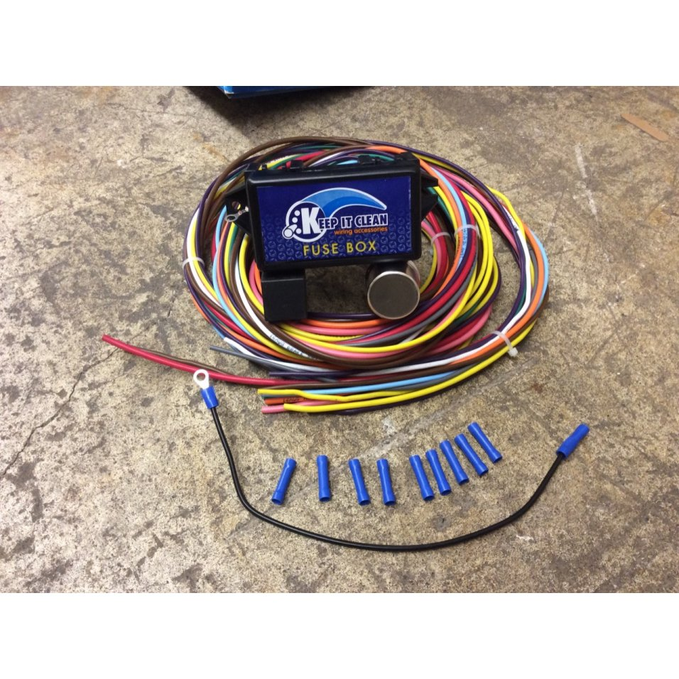 18 Circuit Universal Wire Harness Drag Race Street Ford Hot Rod Image Is Loading