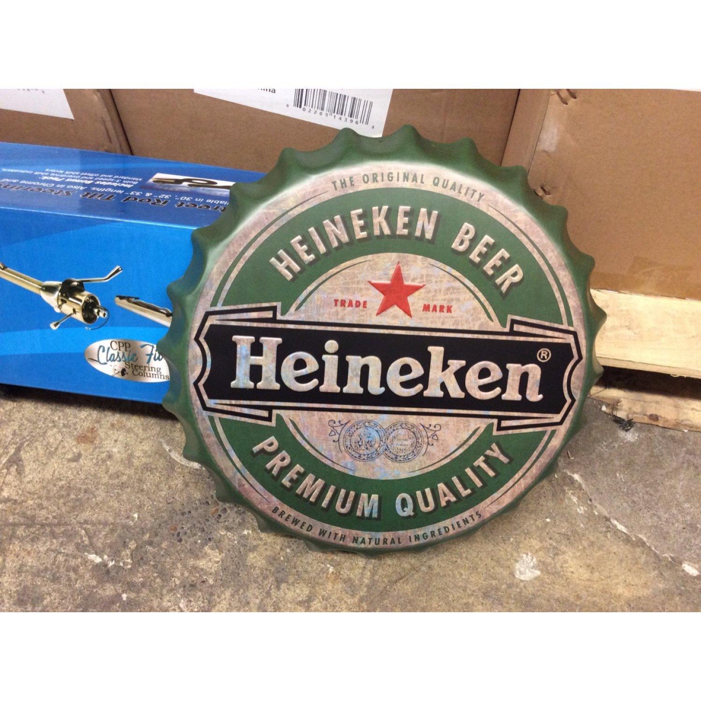 Heineken Beer Bottle Cap Display Sign Restaurant Bar Pub Wall Decor Mancave Ebay