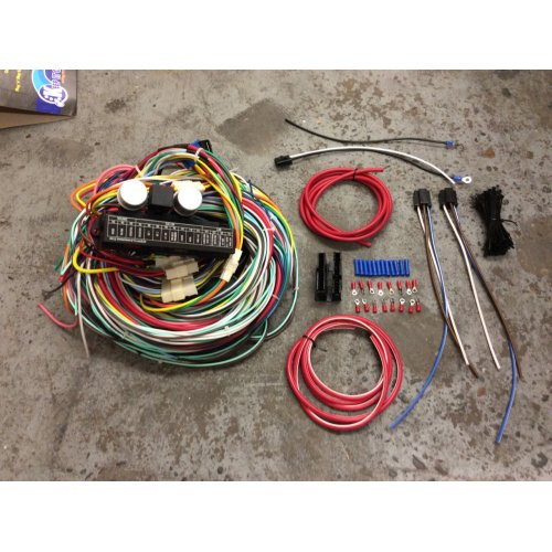 Complete 1973-87 Chevy C10 Pickup 24 Circuit Wiring Harness Wire Kit 15  Fuse K10 | eBayeBay