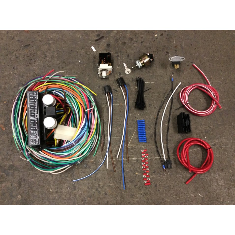 1964 mustang fuse box wiring 1964 73 ford mustang complete 24 circuit re wiring harness  circuit re wiring harness