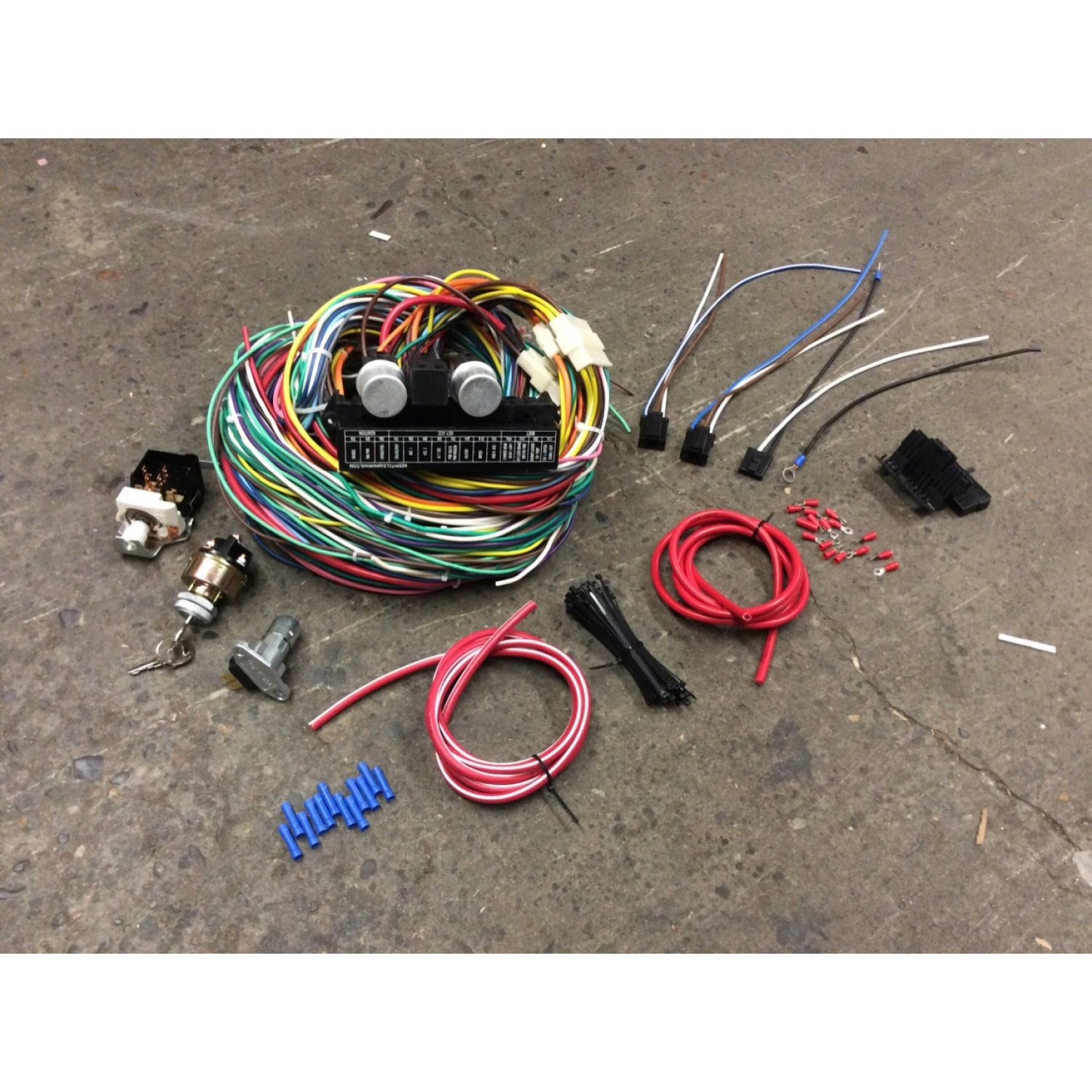 1953-56 Ford F100 Pickup Compact Wiring Harness + Switch Upgrade Kit  Flathead F2 | eBayeBay