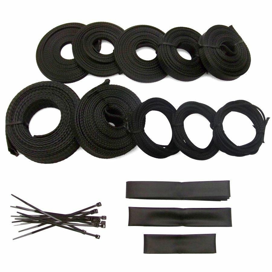 ultra power braided wrap wire harness loom kit for amc 127ft ebay rh ebay com Lt1 Wiring Harness Telecaster Wiring Harness