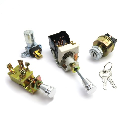 Headlight w// Knob Lever Wiper Street Rat Rod GM Switch Kit Dimmer Ignition