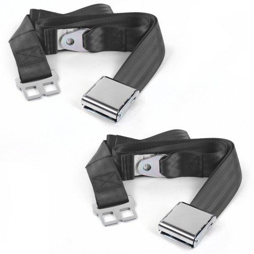 Ford 1941-1948  Standard 2pt Black Lap Bench Seat Belt Kit 3 Belts SafTboy