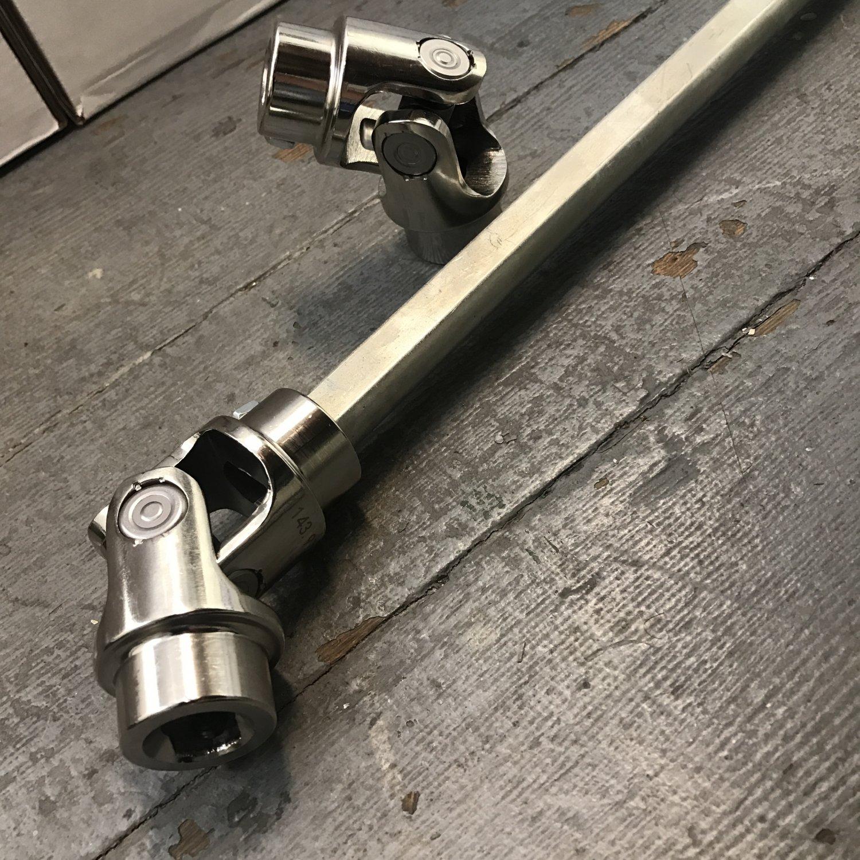 "3//4/"" DD x Ford Triangle Chrome U-Joint 36/"" Long 3//4/"" DD Universal Shaft Kit"