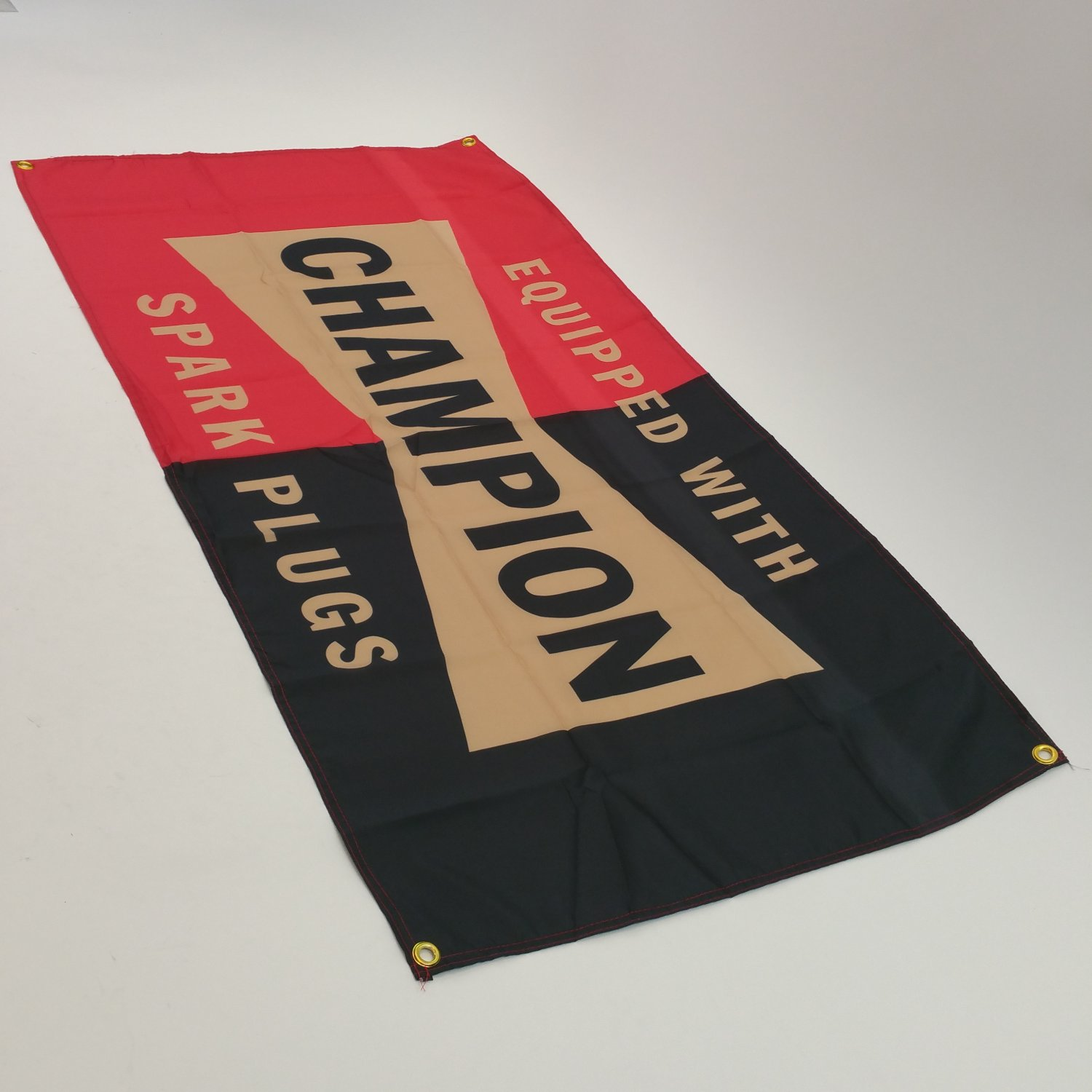 Champion Spark Plugs Advertising Flag Wall Banner Garage Vintage Classic Dealer