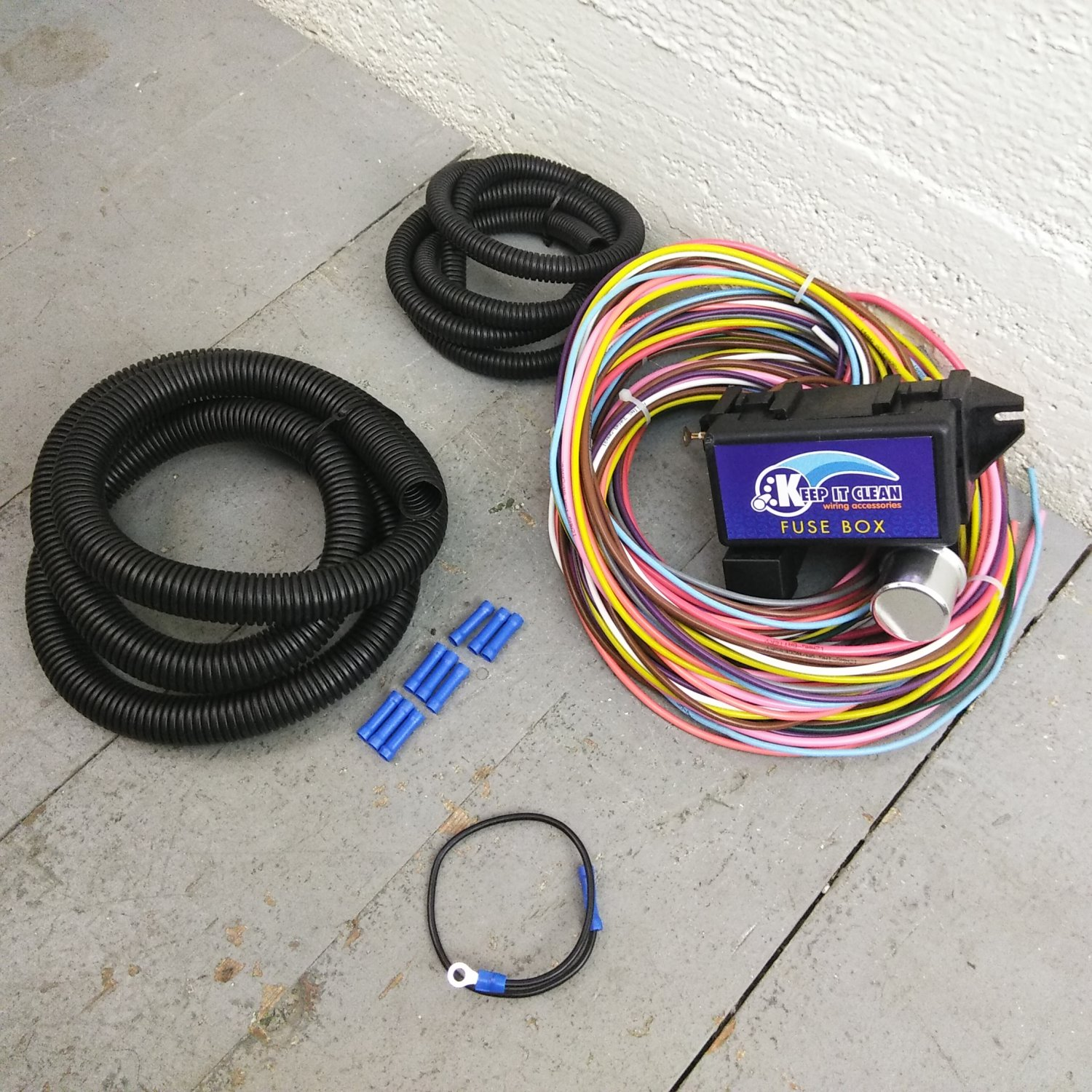 1949 and earlier Lincoln Ultra Pro Wire Harness System 12 Fuse long retro  fit. Bar_Product_Description_C